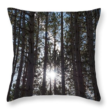 Towering Pines Throw Pillow
