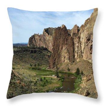 Towering Smith Rocks Throw Pillow