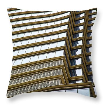 Throw Pillow featuring the photograph Towering Windows by Karol Livote
