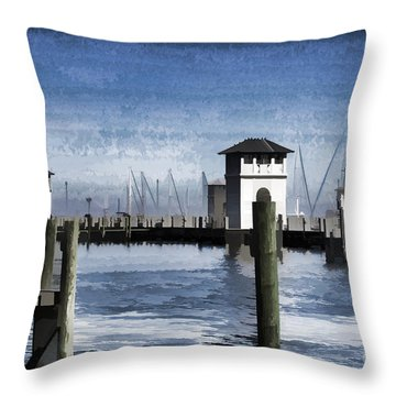 Towers And Masts Throw Pillow
