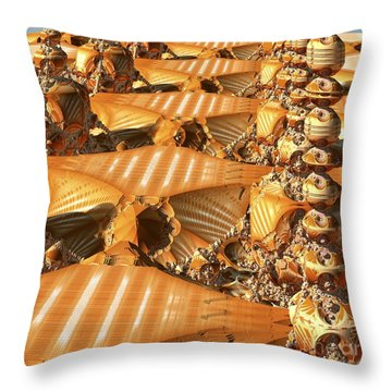 Towers And Patterns Throw Pillow