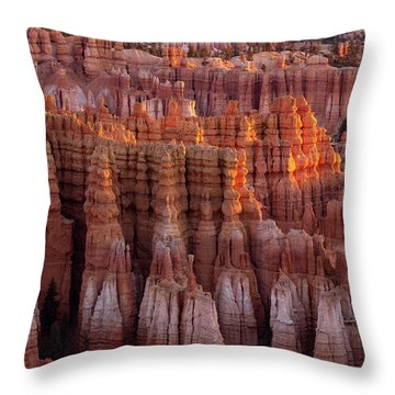 Towers Of Bryce Throw Pillow