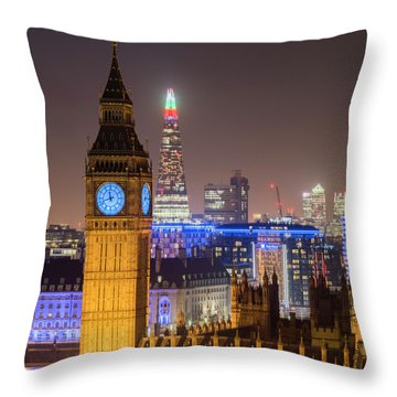 Towers Of London Throw Pillow