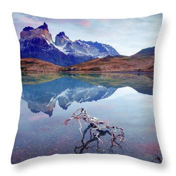 Towers Of The Andes Throw Pillow