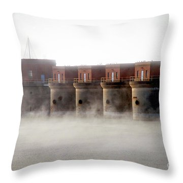 Towers Rising Throw Pillow
