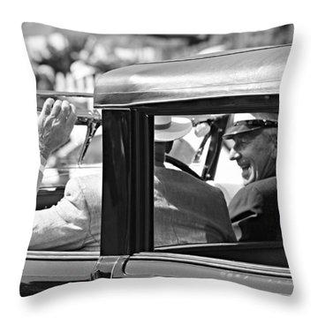 Town Car At Pebble Beach Throw Pillow