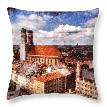 Town Hall. Munich Throw Pillow by Sergey Simanovsky