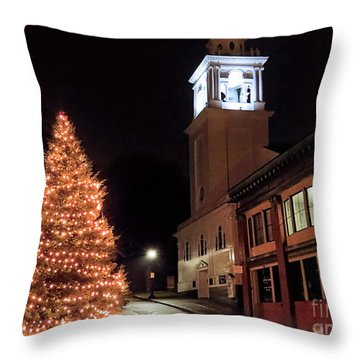 Town Square Plymouth Ma  Throw Pillow