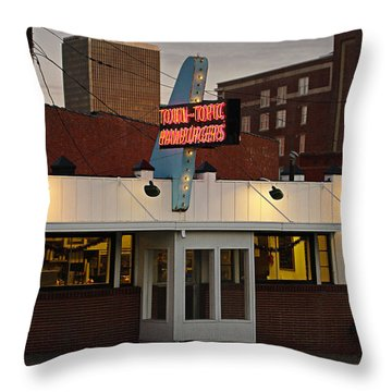 Town Topic Throw Pillow by Jim Mathis