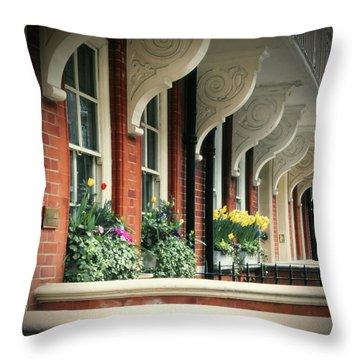 Townhouse Row - London Throw Pillow