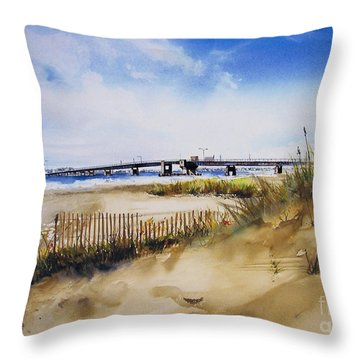 Townsends Inlet Throw Pillow