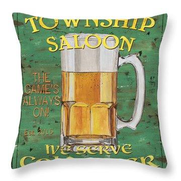 Township Saloon Throw Pillow