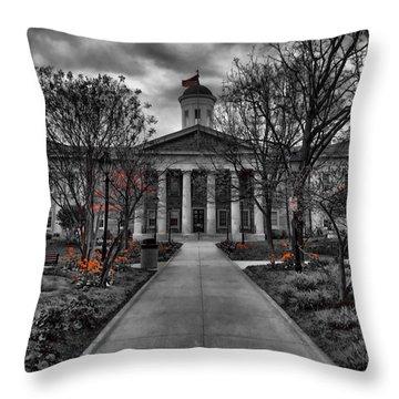 Towson Courthouse Throw Pillow