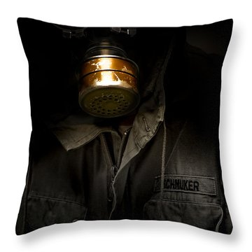 Toxic Decay Throw Pillow