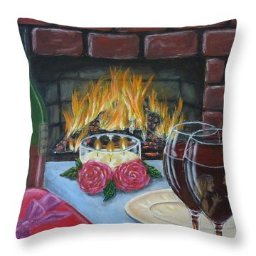 Toxic Romance Throw Pillow