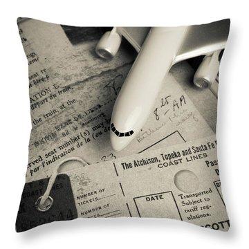 Toy Airplane II Throw Pillow by Edward Fielding