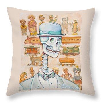 Toy Bones Throw Pillow