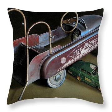 Toy Crossroads Throw Pillow by Doug Strickland