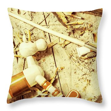 Toy Making At Santas Workshop Throw Pillow by Jorgo Photography - Wall Art Gallery