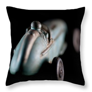 Throw Pillow featuring the photograph Toy Race Car by Wilma Birdwell
