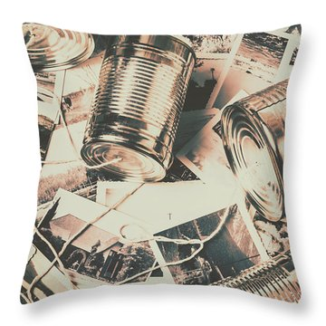 Toy Telecommunications Throw Pillow
