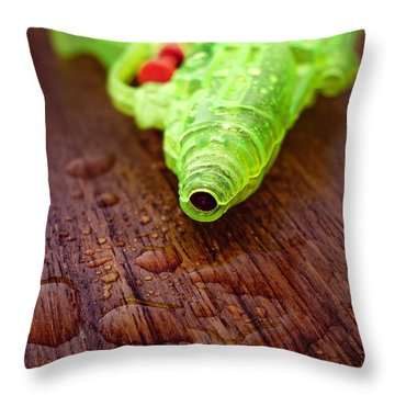 Toy Water Pistol Throw Pillow