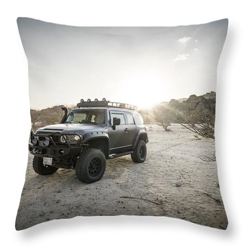 Toyota Fj Cruiser In Saudi Arabia Throw Pillow