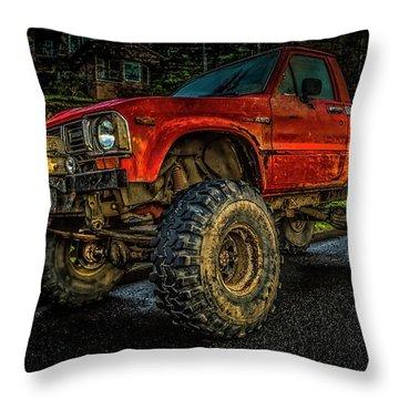 Toyota Grunge Throw Pillow