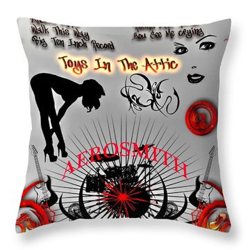 Toys In The Attic Throw Pillow by Michael Damiani