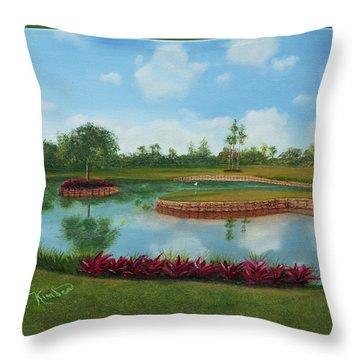 Tpc Sawgrass 17th Hole Throw Pillow