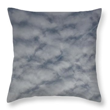 Trace Of Airplane Throw Pillow by Jean Bernard Roussilhe