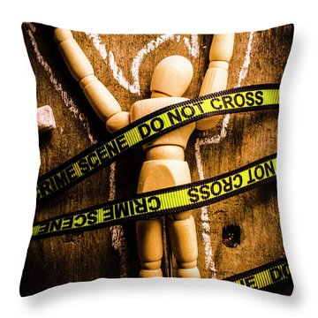Tracing Of Tragedy Throw Pillow
