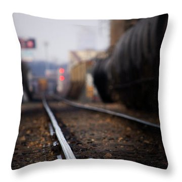 Track Life Throw Pillow