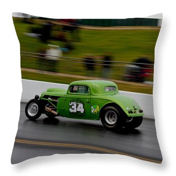 Track Time - Santa Pod Throw Pillow