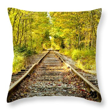 Track To Nowhere Throw Pillow