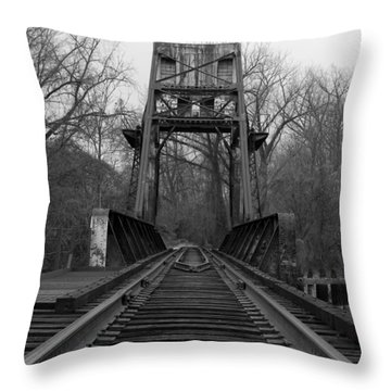 Tracking The Past Throw Pillow by Kelvin Booker