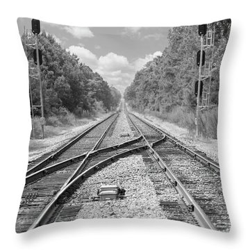 Throw Pillow featuring the photograph Tracks 2 by Mike McGlothlen