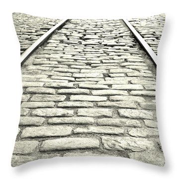 Tracks In The Road Throw Pillow