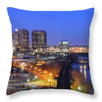 Tracks Into The City Wide Angle Throw Pillow