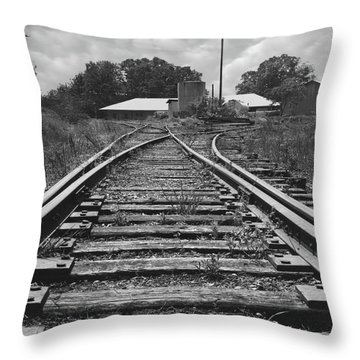 Throw Pillow featuring the photograph Tracks by Mike McGlothlen