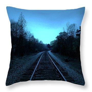 Tracks Of Dawn Throw Pillow by Nina Fosdick