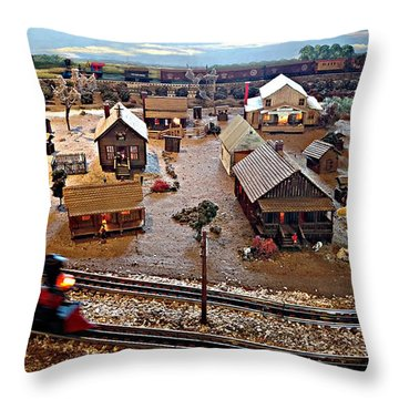 Throw Pillow featuring the photograph Tracks by Steve Sperry