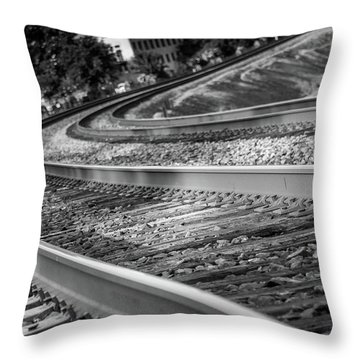 Tracks Through Historic Buford Throw Pillow