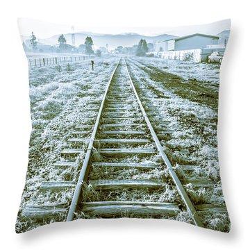 Tracks To Travel Tasmania Throw Pillow