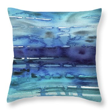 Abstract Seascape Reflections Throw Pillow