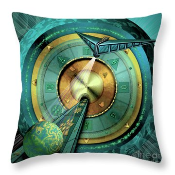 Tractor Beam Throw Pillow