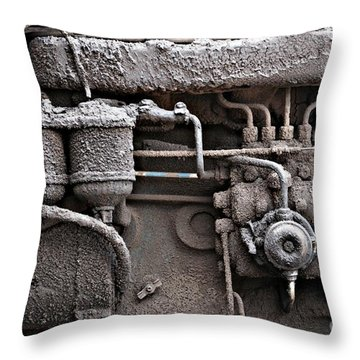Throw Pillow featuring the photograph Tractor Engine II by Stephen Mitchell