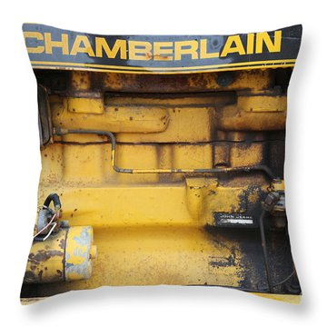 Throw Pillow featuring the photograph Tractor Engine Iv by Stephen Mitchell