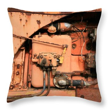 Tractor Engine V Throw Pillow