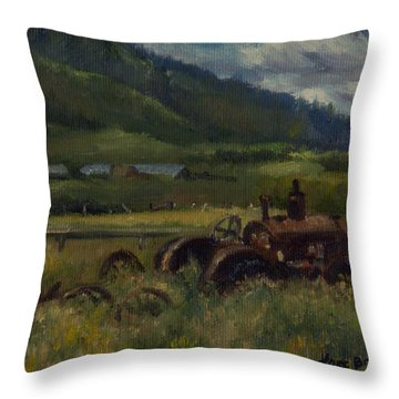 Tractor From Swan Valley Throw Pillow